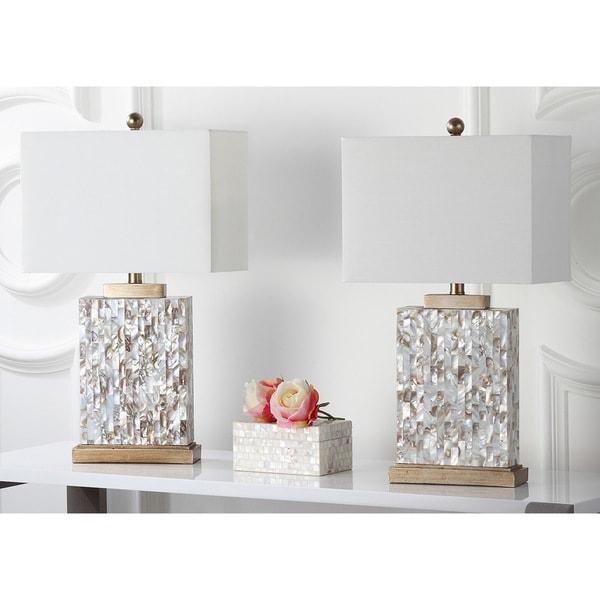 Safavieh Lighting 25-inch Tory Sea Shell Table Lamp (Set of 2)