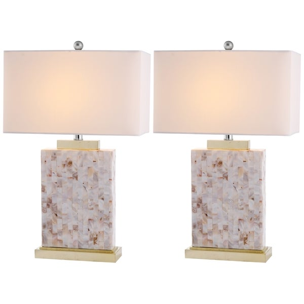 Safavieh Lighting 25-inch Tory Sea Shell Table Lamps (Set of 2)