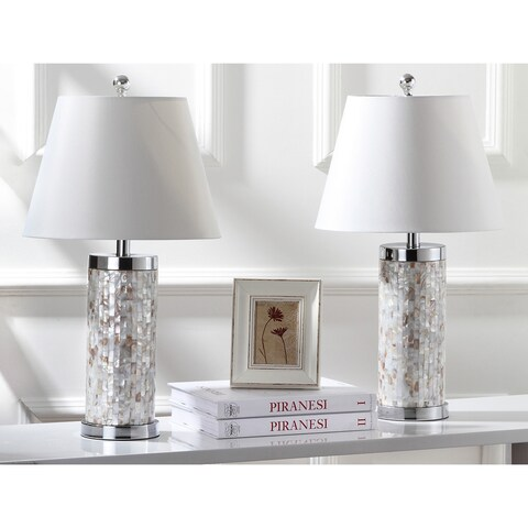 Safavieh Lighting 25.5-inch Diana Sea Shell Table Lamp (Set of 2)