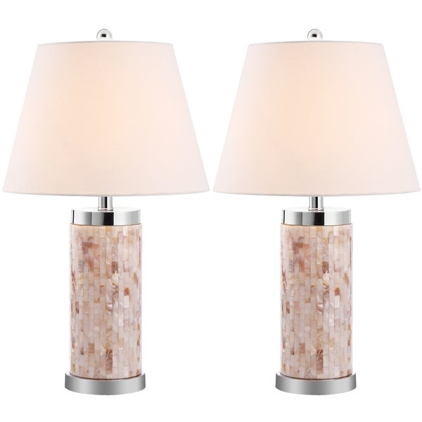 Safavieh Lighting 21.5-inch Diana Sea Shell Table Lamps (Set of 2)