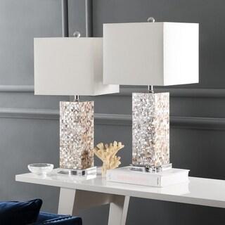 Safavieh Lighting 25.5-inch Homer Sea Shell Table Lamp (Set of 2)