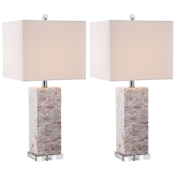Safavieh Lighting 25.5-inch Homer Sea Shell Table Lamps (Set of 2)