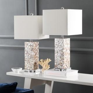 Safavieh Lighting 26-inch Homer Sea Shell Table Lamp (Set of 2)
