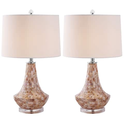 Safavieh Lighting 24-inch Kobe Sea Shell Table Lamp (Set of 2)