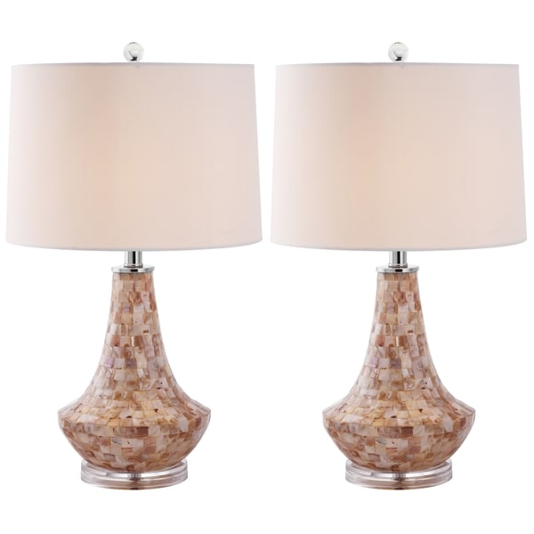 Safavieh Lighting 24-inch Kobe Sea Shell Table Lamps (Set of 2)