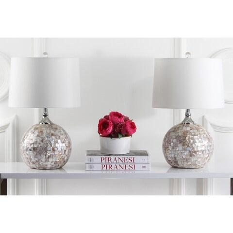 Safavieh Lighting 21.5-inch Nikki Sea Shell Table Lamp (Set of 2)