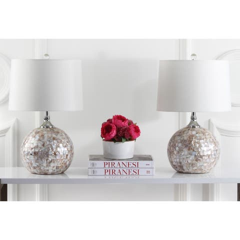 Safavieh Lighting 22-inch Nikki Sea Shell Table Lamp (Set of 2)