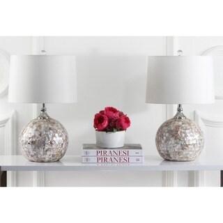 "Safavieh Lighting 22-inch Nikki Sea Shell Table Lamp (Set of 2) - 14""x14""x22.5"""
