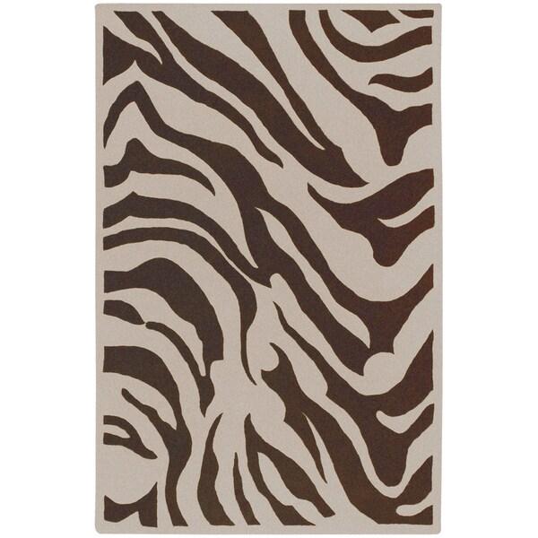 Shop Hand Tufted Brown White Zebra Animal Print Gelderland