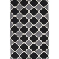 Hand-woven Harlingen Grey Wool Area Rug - 9' x 13'
