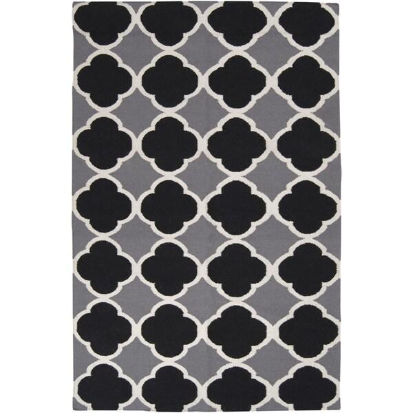 Hand-woven Harlingen Grey Wool Area Rug - 9' x 13'