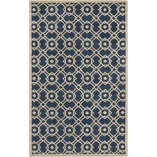 Hand-tufted Culemborg Blue New Zealand Wool Rug (9' x 13')