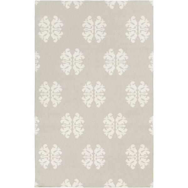 Hand Woven Stencil Beige Beige Wool Rug 3 6 X 5 6 Overstock 7638095
