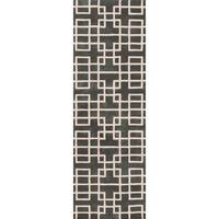 "Hand-tufted Sittard Grey Geometric Wool Area Rug - 2'6"" x 8'"