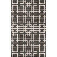 Hand-tufted Sittard Grey Geometric Wool Area Rug - 5' x 8'