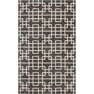 Hand-tufted Sittard Grey Geometric Wool Rug (8' x 11')