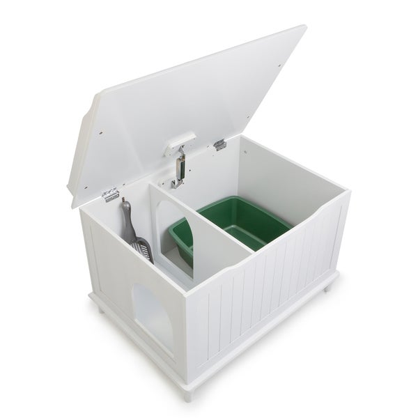 Delightful Designer Catbox Hidden Litter Box Enclosure Furniture   Free Shipping Today    Overstock.com   15055558