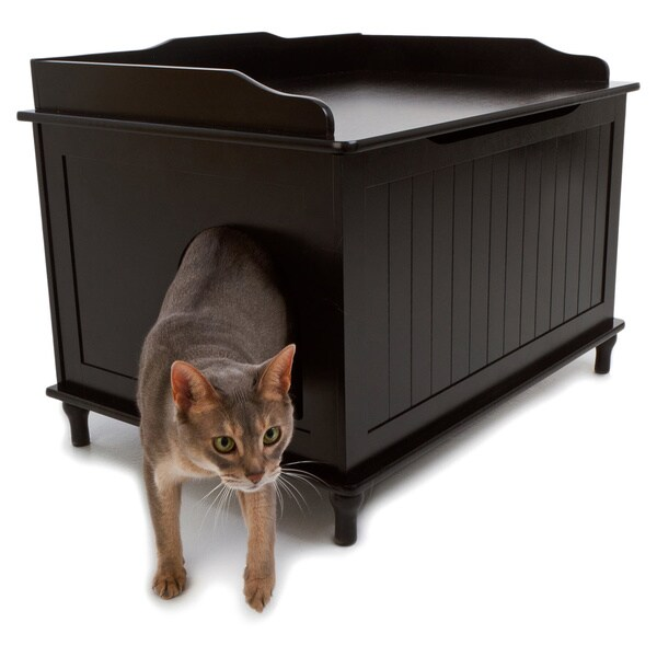 Designer Catbox Hidden Litter Box Enclosure Furniture   Free Shipping Today    Overstock.com   15055558
