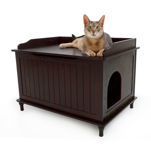 hidden cat box furniture. designer catbox hidden litter box enclosure furniture free shipping today overstockcom 15055558 cat