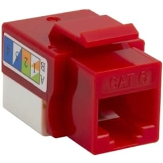 4XEM Cat6 RJ45 Keystone Jack UTP 110-Type (Red)