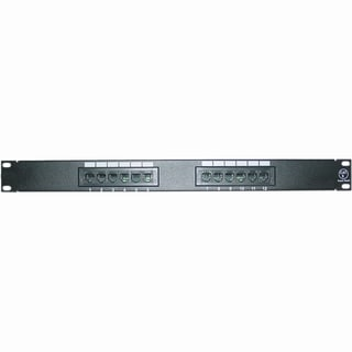 4XEM 12 Port CAT6 Rackmount Patch Panel