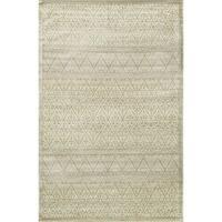 Traditional Distressed Light Gold/ Grey Damask Rug