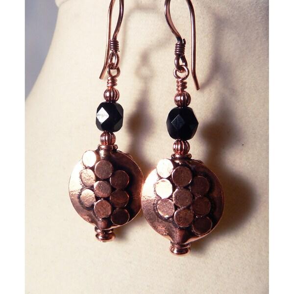 'Juliette' Copper Dangle Earrings