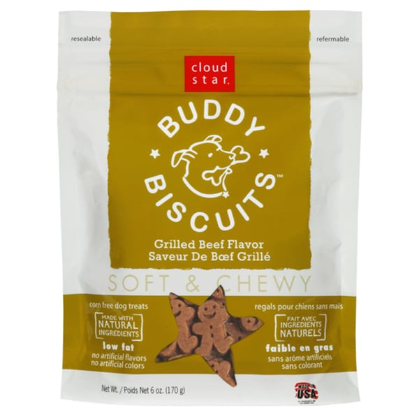 Cloud Star Soft Chewy Beef Dog Buddy Biscuits
