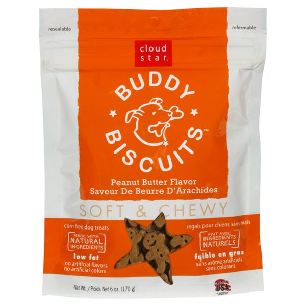 Cloud Star Peanut Butter Chewy Dog Biscuits