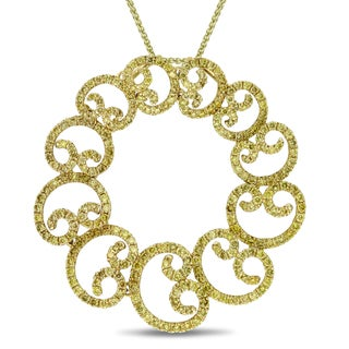 Miadora Signature Collection 18k Yellow Gold 1 3/4ct TDW Diamond Necklace (SI1-SI2)