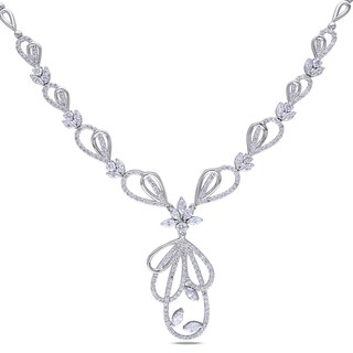 Miadora Signature Collection 14k White Gold 4 4/5ct TDW Diamond Necklace