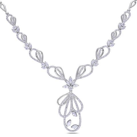 Miadora Signature Collection 14k White Gold 4 4/5ct TDW Diamond Necklace
