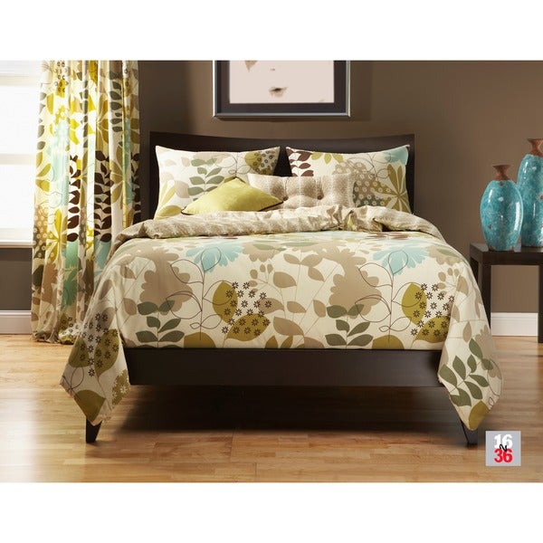 English Garden Reversable 4-piece Duvet Cover Set