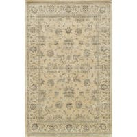 Traditional Distressed Ivory/ Grey Floral Rug
