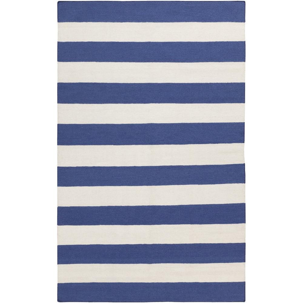 SURYA Handwoven RoyalStripe Blue Corn Wool Rug (2' x 3'),...