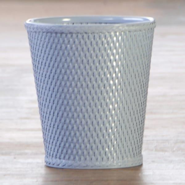 Carter Serene Blue Round Wastebasket