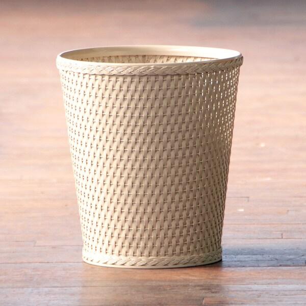 Carter Linen Round Wastebasket