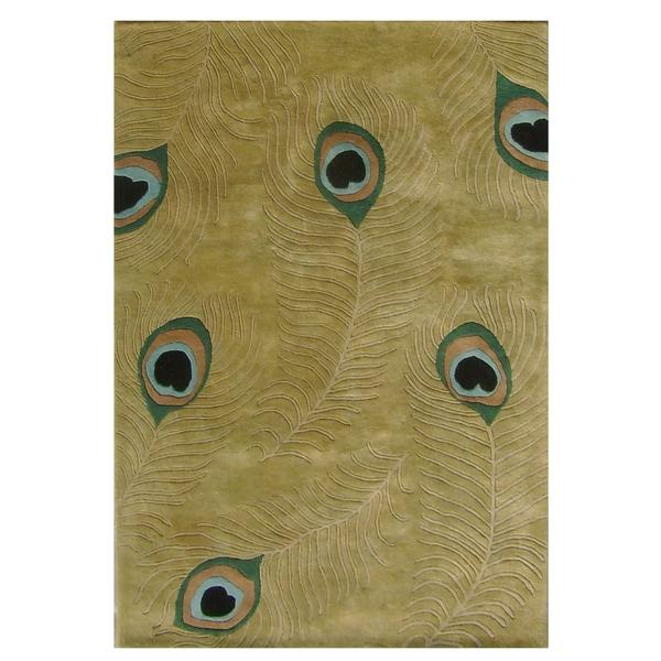 Alliyah Handmade  Sage Green New Zealand Blend Wool Rug  (9' x 12')