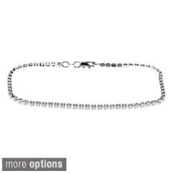 La Preciosa Sterling Silver Cubic Zirconia 7.5-inch Tennis Bracelet