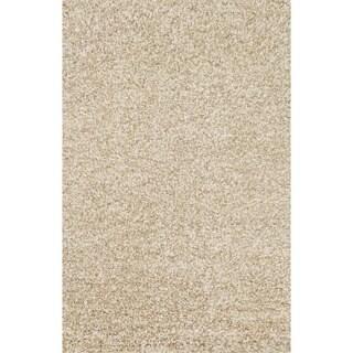 Hand-woven Baxter Beige Shag Rug (5'0 x 7'6)