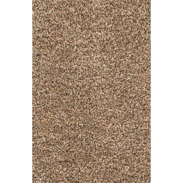 Hand-woven Baxter Brown Shag Rug (5'0 x 7'6)