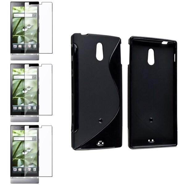 BasAcc Black TPU Case/ Screen Protector for Sony Xperia P LT22i