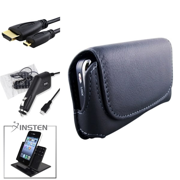 INSTEN Holder/ Charger/ Phone Case Cover/ HDMI Cable for Motorola Atrix 4G