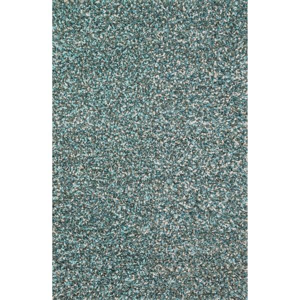 Hand-woven Baxter Blue Shag Rug (3'6 x 5'6)