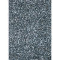 "Hand-woven Baxter Blue Shag Rug (7'6 x 9'6) - 7'6"" x 9'6"""