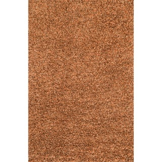 Hand-woven Baxter Rust Shag Rug (3'6 x 5'6)