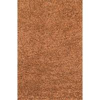 Hand-woven Baxter Rust Shag Rug (7'6 x 9'6)