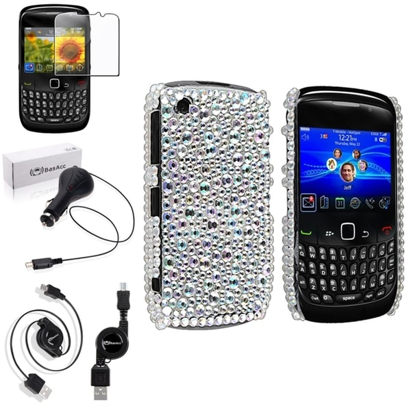 BasAcc Case/ Screen Protector/ Charger for BlackBerry Curve 8520