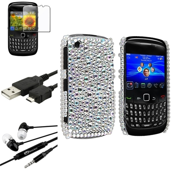 BasAcc Case/ Screen Protector/ Headset for BlackBerry Curve 8520