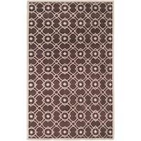 Hand-tufted Laren Brown New Zealand Wool Area Rug - 5' x 8'